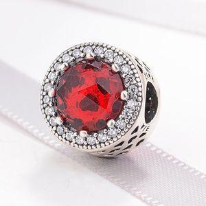 Pandora Red radiant heart charm
